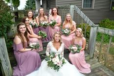 Bridesmaids on the porch