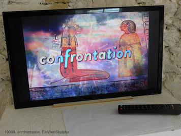 D 1000&, confrontation EinWortSkulptur.J