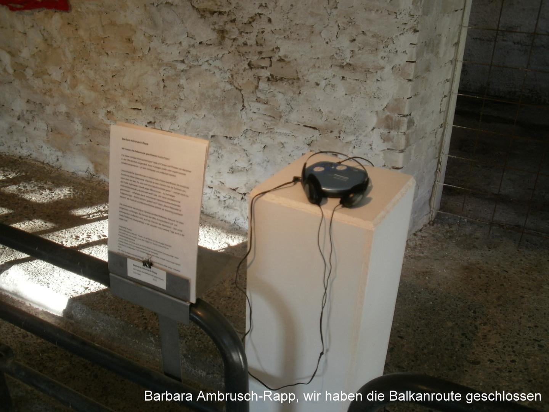 A Barbara Ambrusch-Rapp,wir haben die ..