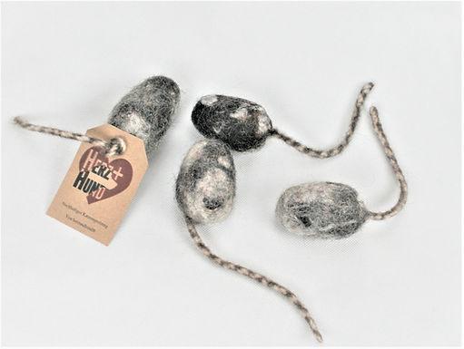 Mäuschen aus Bio-Wollfilz Händleransicht