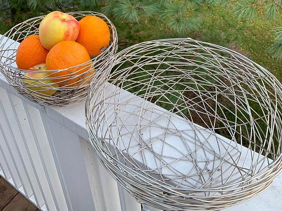 Stunning Silver Bread & Fruit Baskets