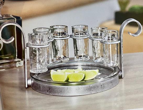 Tequila shot and bottle holder