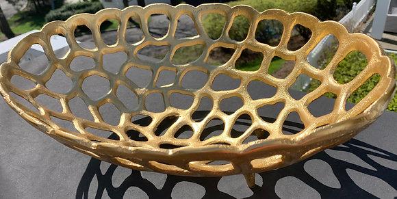 Beautiful Gold Fruit/ Bread Basket