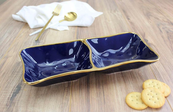 Double serving dish