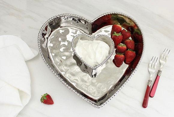 I love you ....Heart Chip n Dip