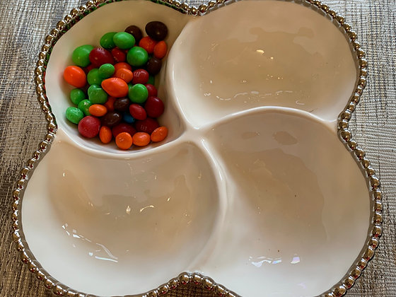 4 Sectioned Clover Bowl
