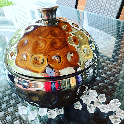 Triple Walled Hammered Ice Bucket