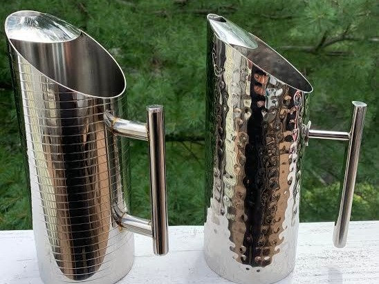 Stainless Steel Pitcher With Ice Catcher