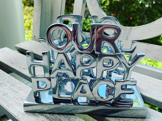 """""""Our Happy Place"""" Napkin Holder"""