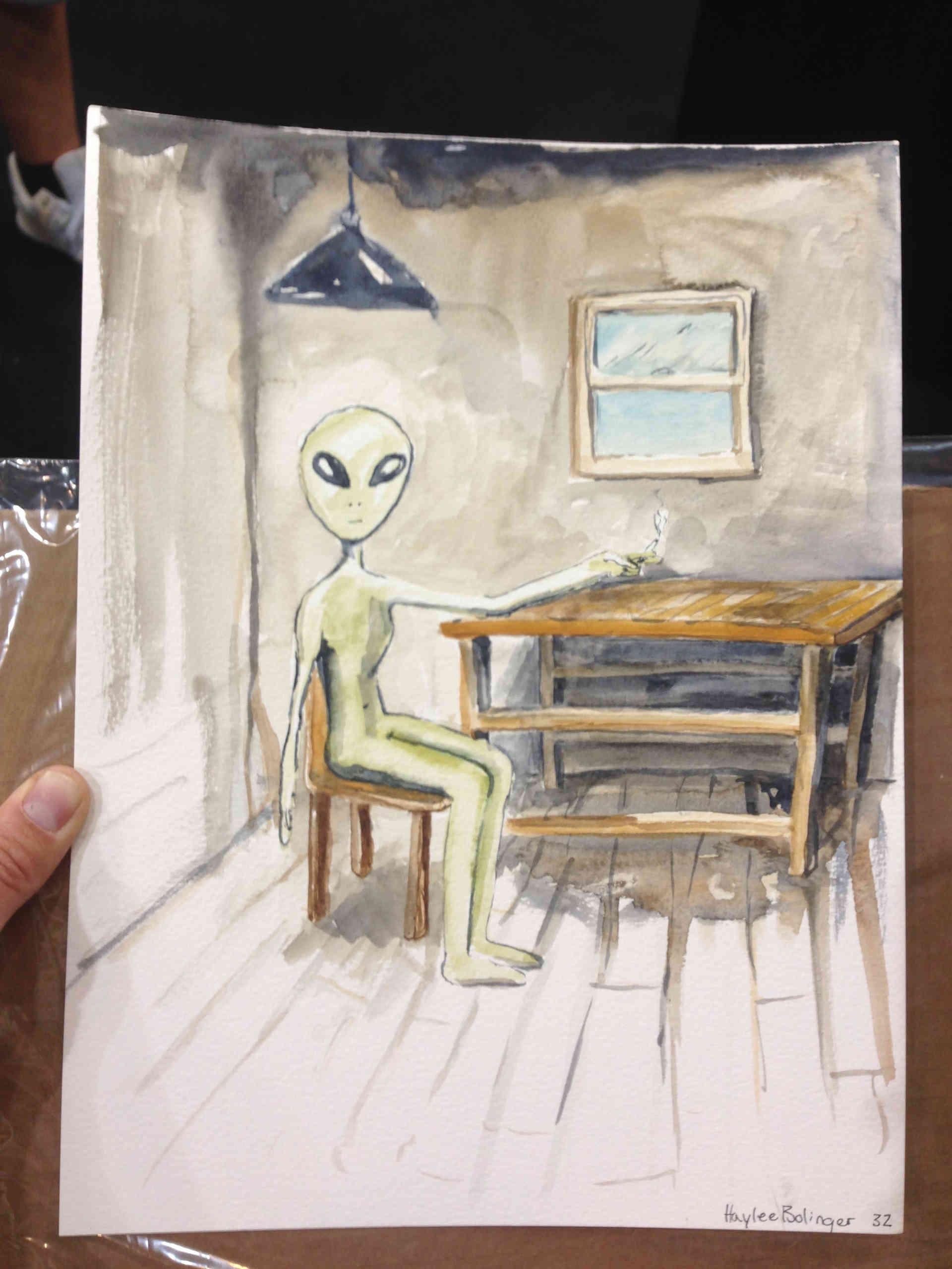 Smoking Alien?!