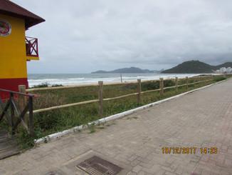 Praia Brava recebe 470 metros de cerca para proteção da vegetação de restinga