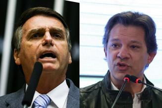 Eleições: boca de urna Ibope dá segundo turno entre Bolsonaro e Haddad