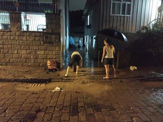 Chuva causa transtornos em Blumenau