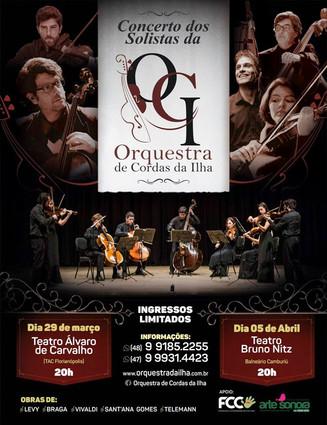 Apoiando a Cultura: Solistas da orquestra de cordas se apresentam em Balneário