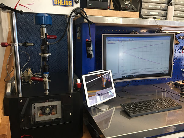 Roehric CTW shock dyno ohlins service center JRI motorcycle shocks