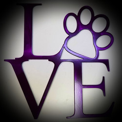 steel love dog paw
