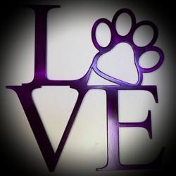 steel love dog paw