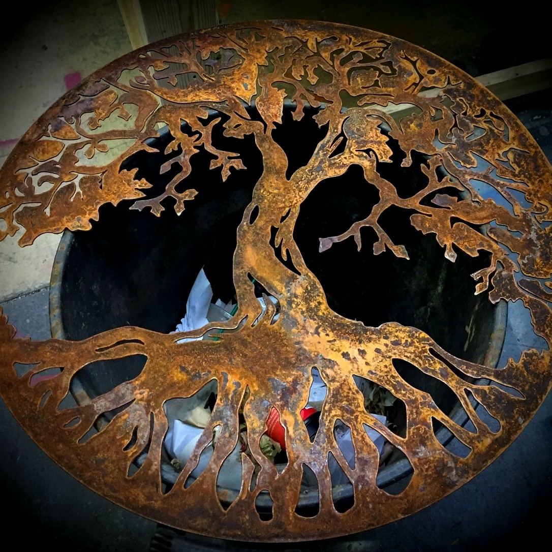 Rusted tree of life