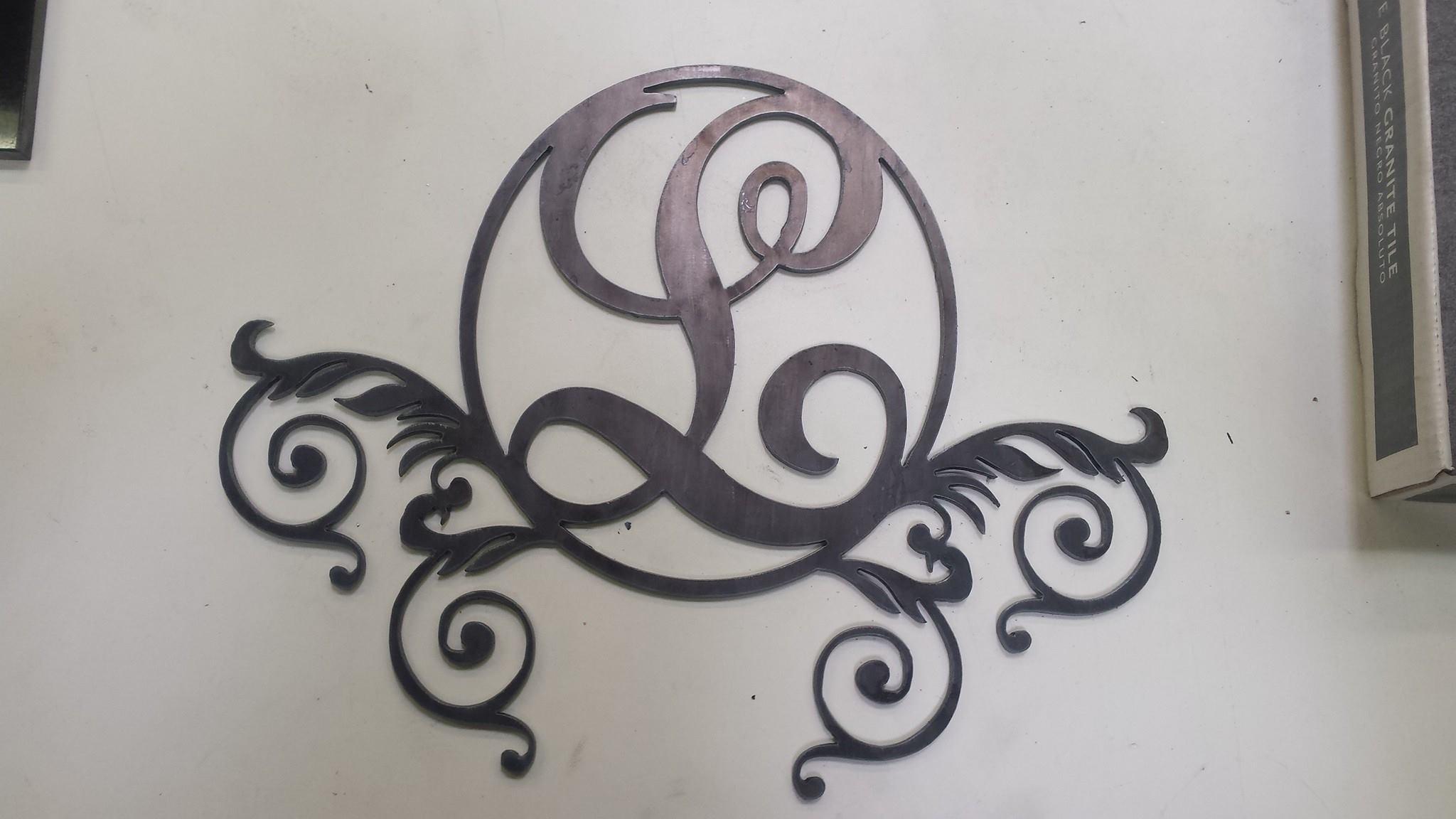 Steel monogram