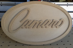 Camaro sign unfinished