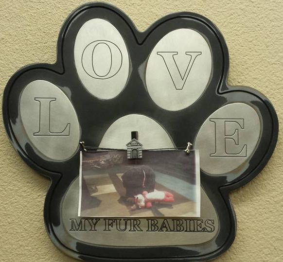 paw plaque