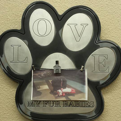 Dog Paw Aluminum/Wood Sign