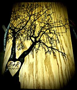 Engraved tree board