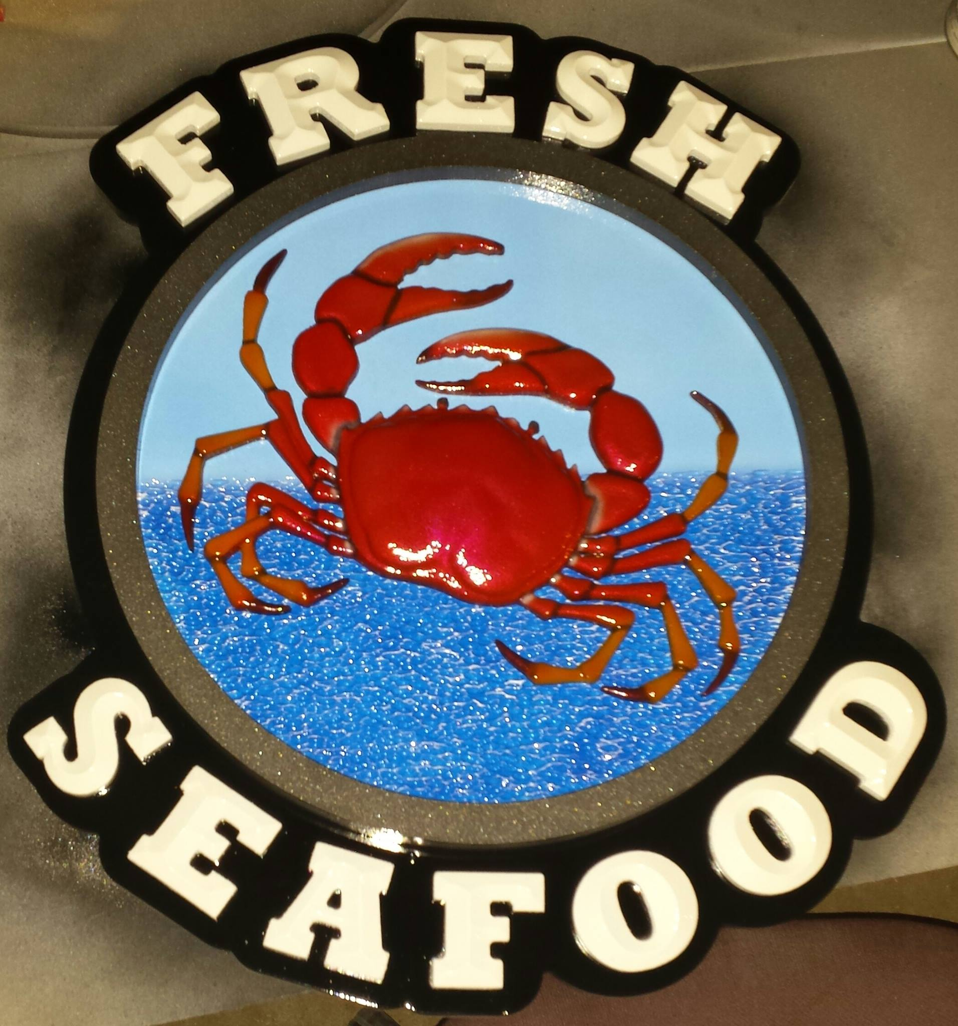 Seafood sign