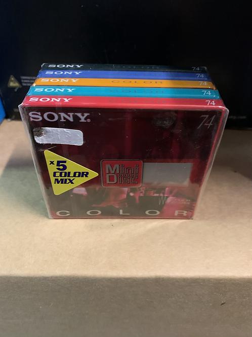 Lot de 5 paquets MiniDisk