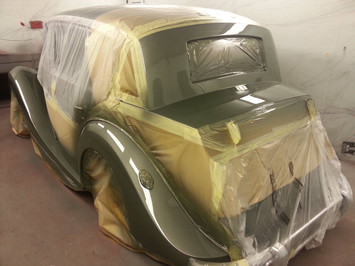 Rolls Royce in Our Spray Booth