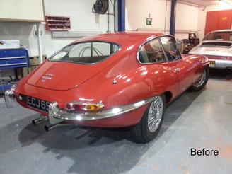 Jaguar E-Type Ready Rear End in Need of