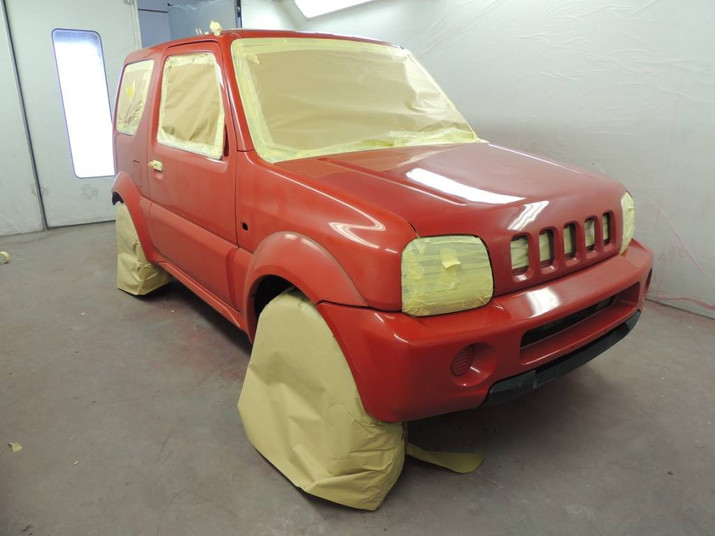 Red Suzuki Jimny in Need of a Colour Cha