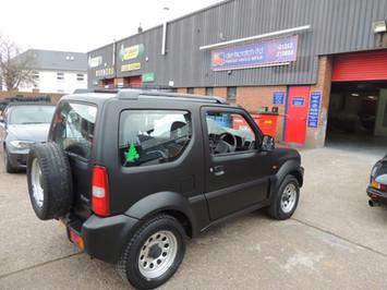 Suzuki Jimny with Matte Black Plasti-Dip