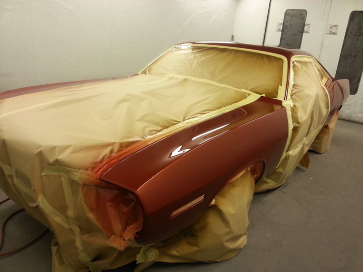 Mustang in for Re-Spray