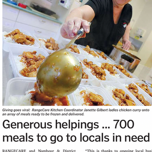 Generous helpings...700 meals to go to locals in need
