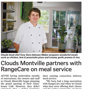 Clouds Montville partners with RangeCare on meal service