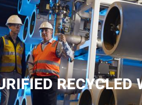 Purified recycled water