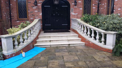 Balustrade Cleaning Before.