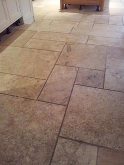 Limestone Kitchen Before.