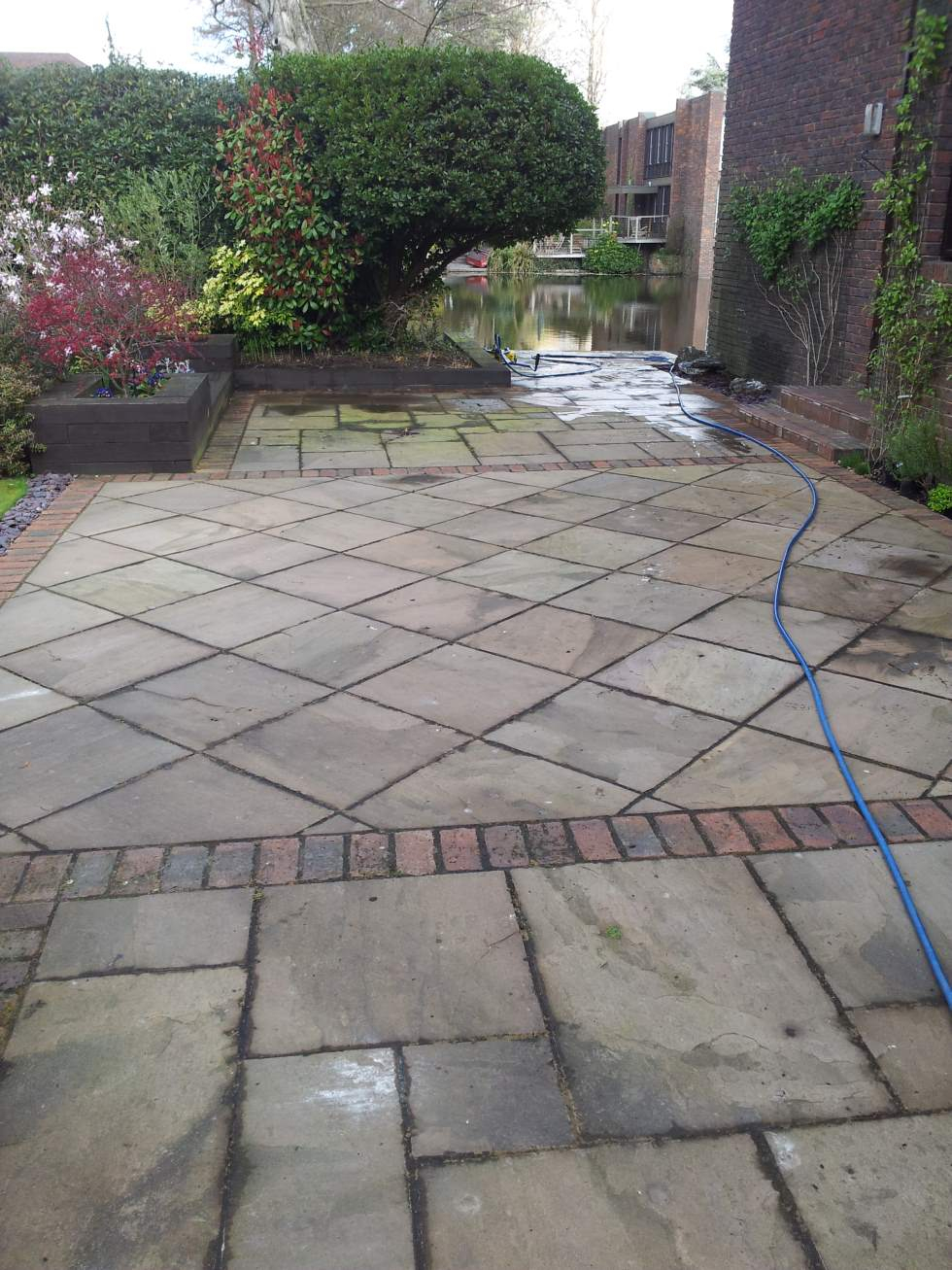 Stone Patio Before.