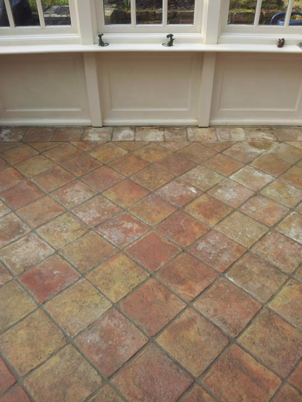 Terracotta Tiles Before.
