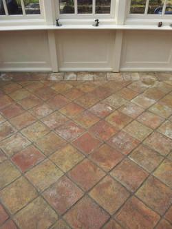 Terracotta Tiles Before.