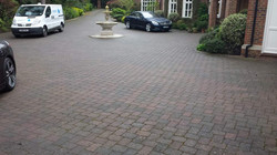 Driveway Clean & Sand Before.