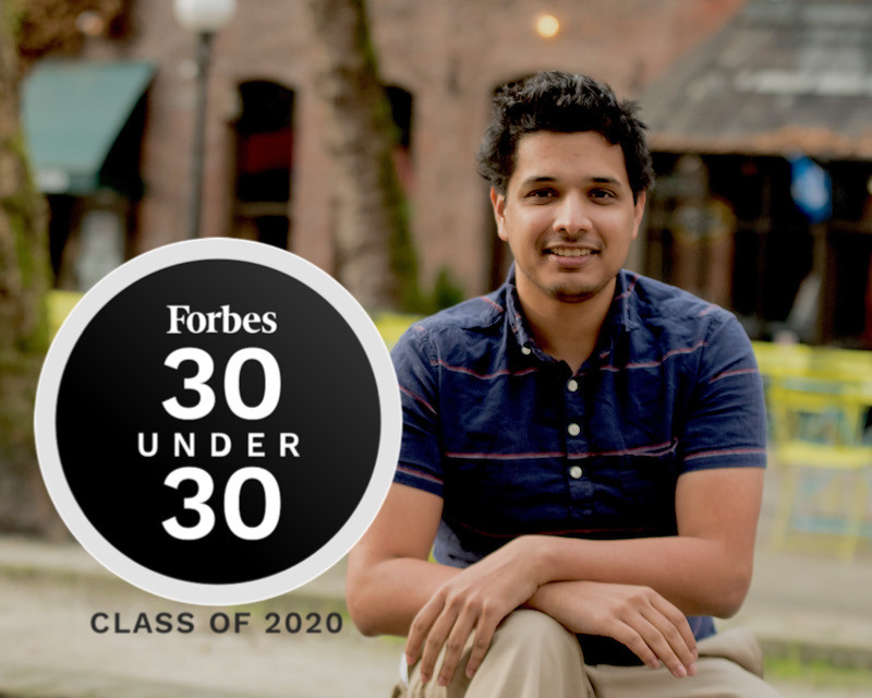Dyndrite Founder and CEO Harshil Goel Forbes 30 Under 30 Class of 2020