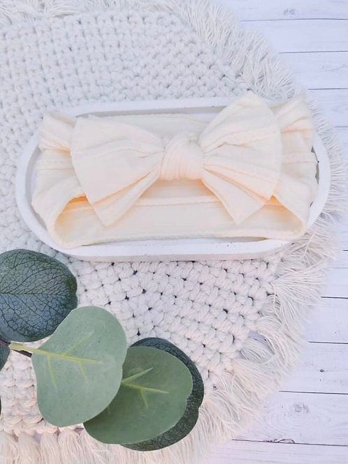 Cream    Nylon Head Wrap