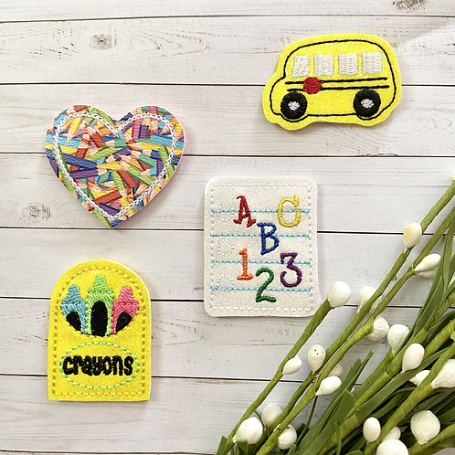 Back To School || Clippies || Select Design