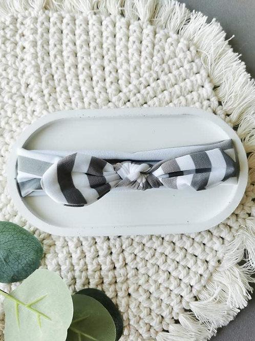 Grey Stripe    Headband