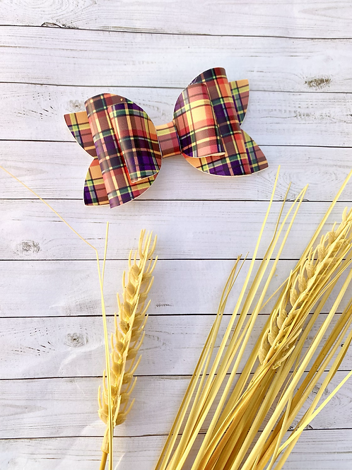 Fall Plaid || Double Dolly Bow