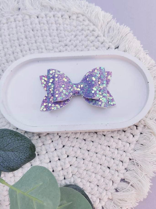 Purple Shimmer    Double Dolly Bow