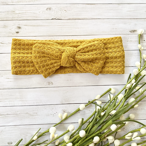 Marigold    Waffle Knit    Headband